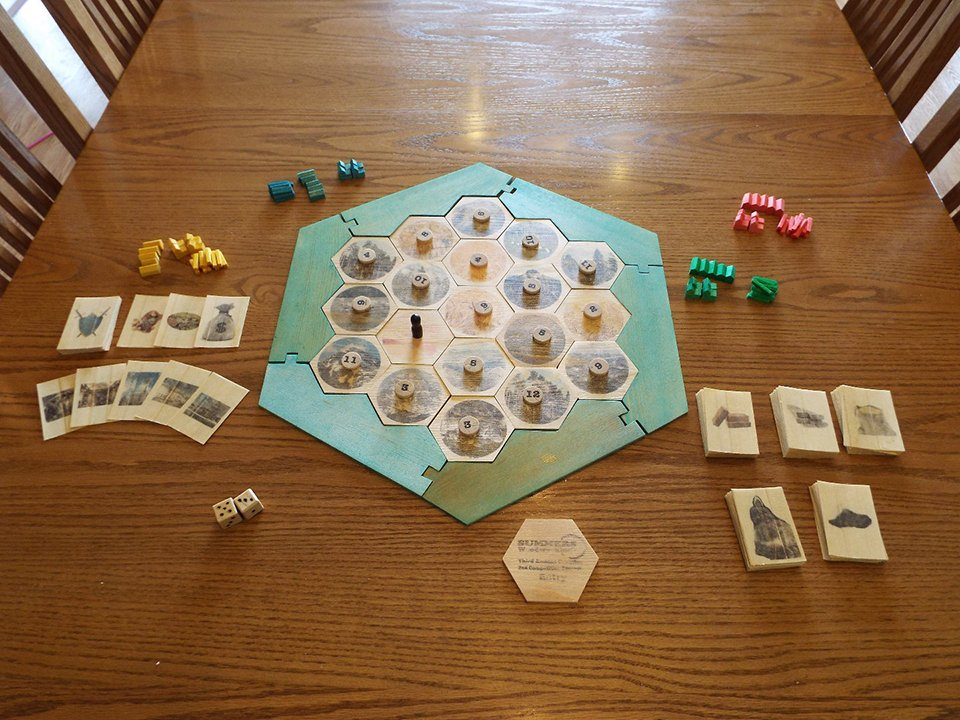 Diy settlers of catan the awesomer