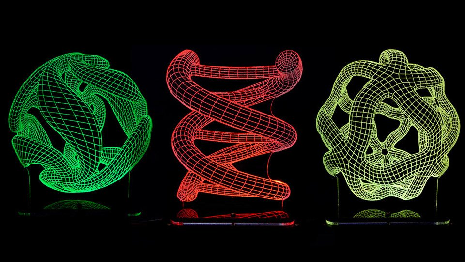 Deal: 3D-Illusion Lighting Sculptures