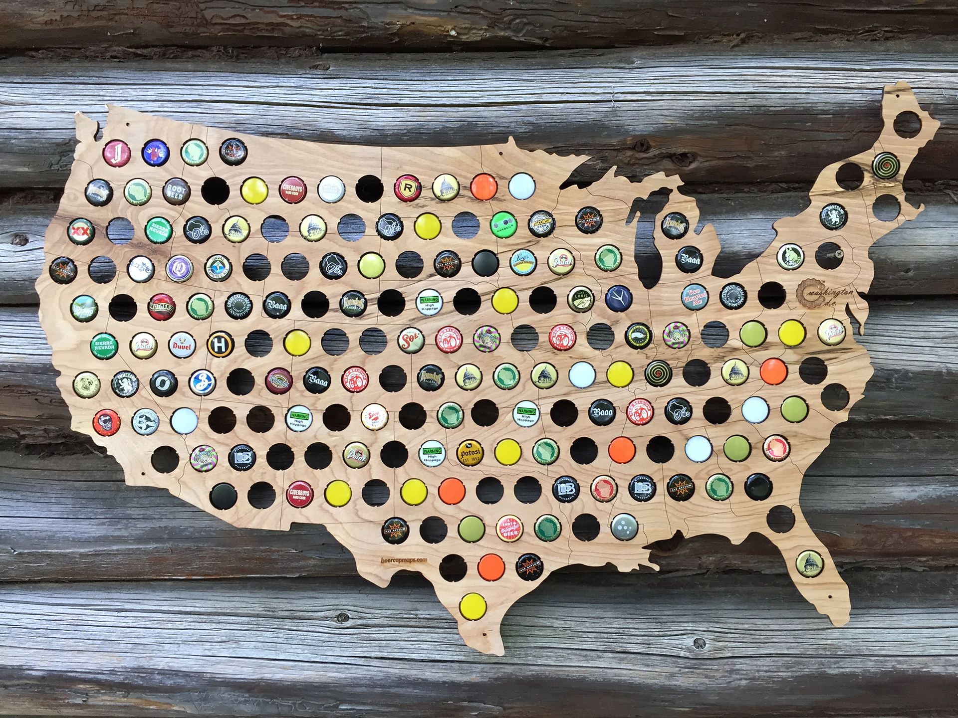 Giveaway: Beer Cap Maps