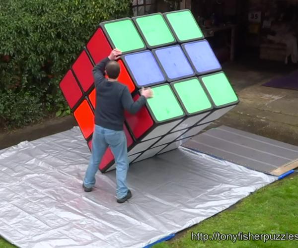 giant rubik s cube. Black Bedroom Furniture Sets. Home Design Ideas