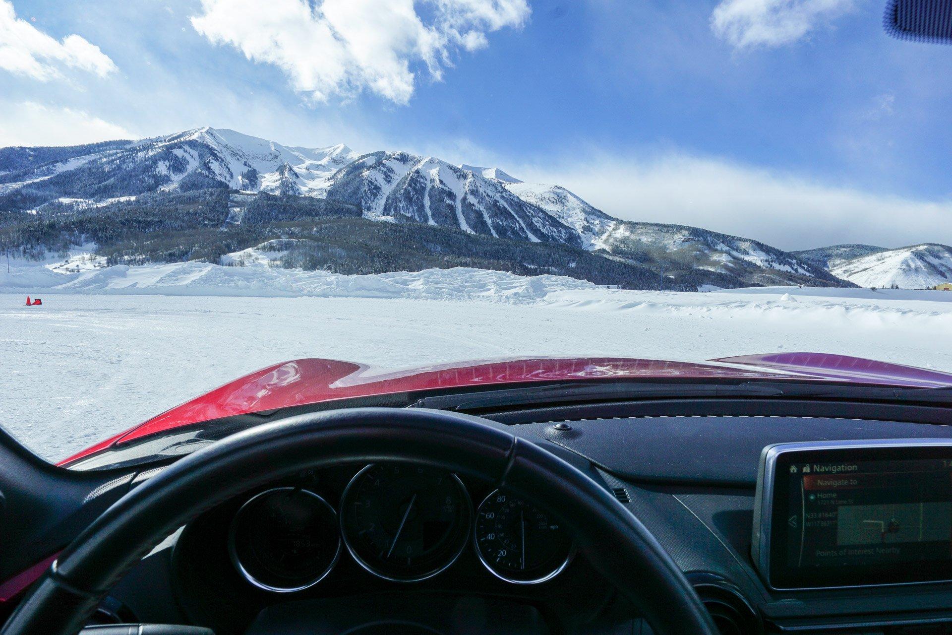 Miata Ice Drifting