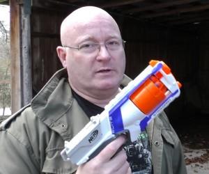 NERF Gun w/Scalpel Blades