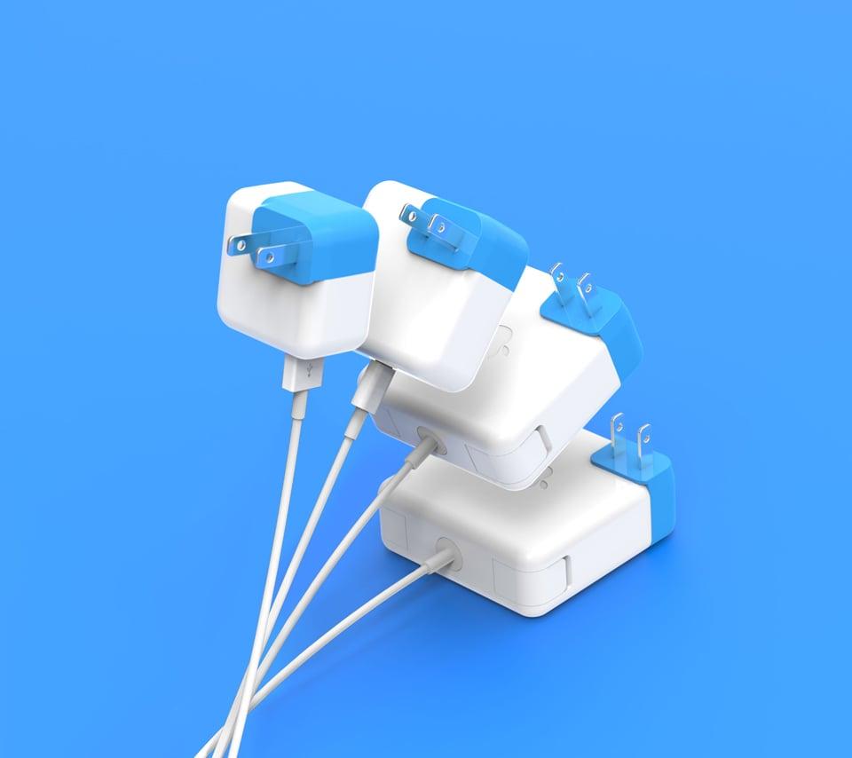Blockhead Mac Charger Adapter