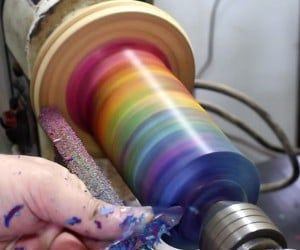 Making a Vase from Crayons