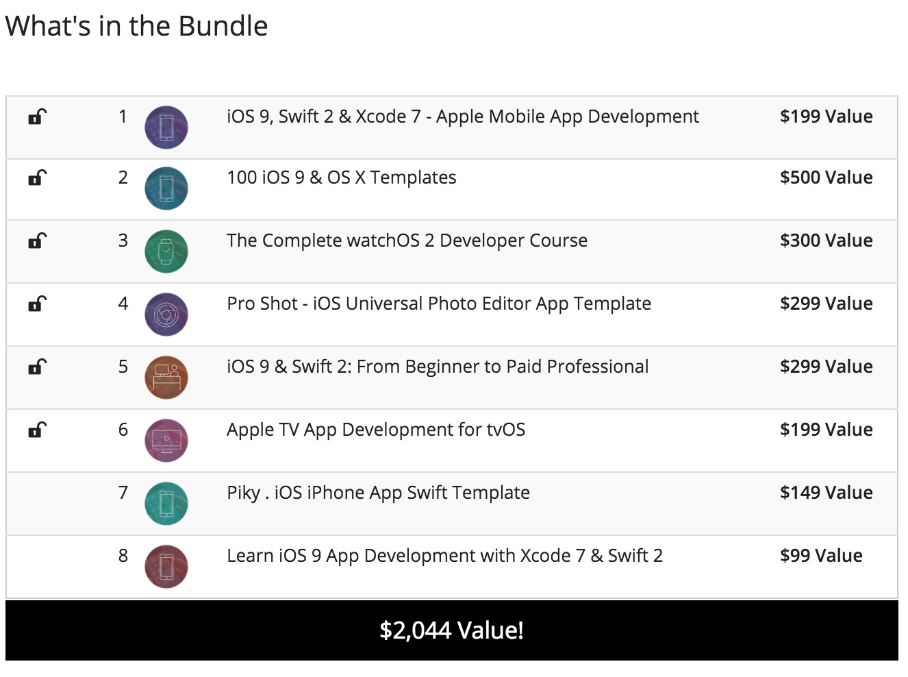 Pay What You Want: iOS 9 Dev Bundle