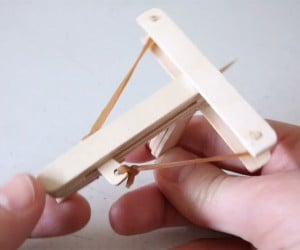 DIY Mini Wooden Crossbow