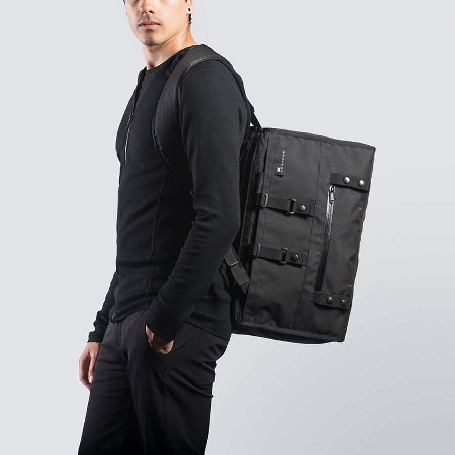 The Mission Workshop Rummy is a luxuriously comfortable, versatile, completely waterproof, and nearly indestructible messenger bag. A cavernous 27 Liter main compartment can accommodate everything from photography gear to odd shaped packages; the .