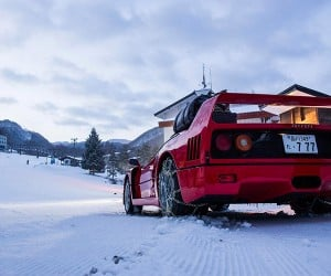 A Ferrari in the Snow