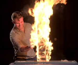 Flaming Jenga