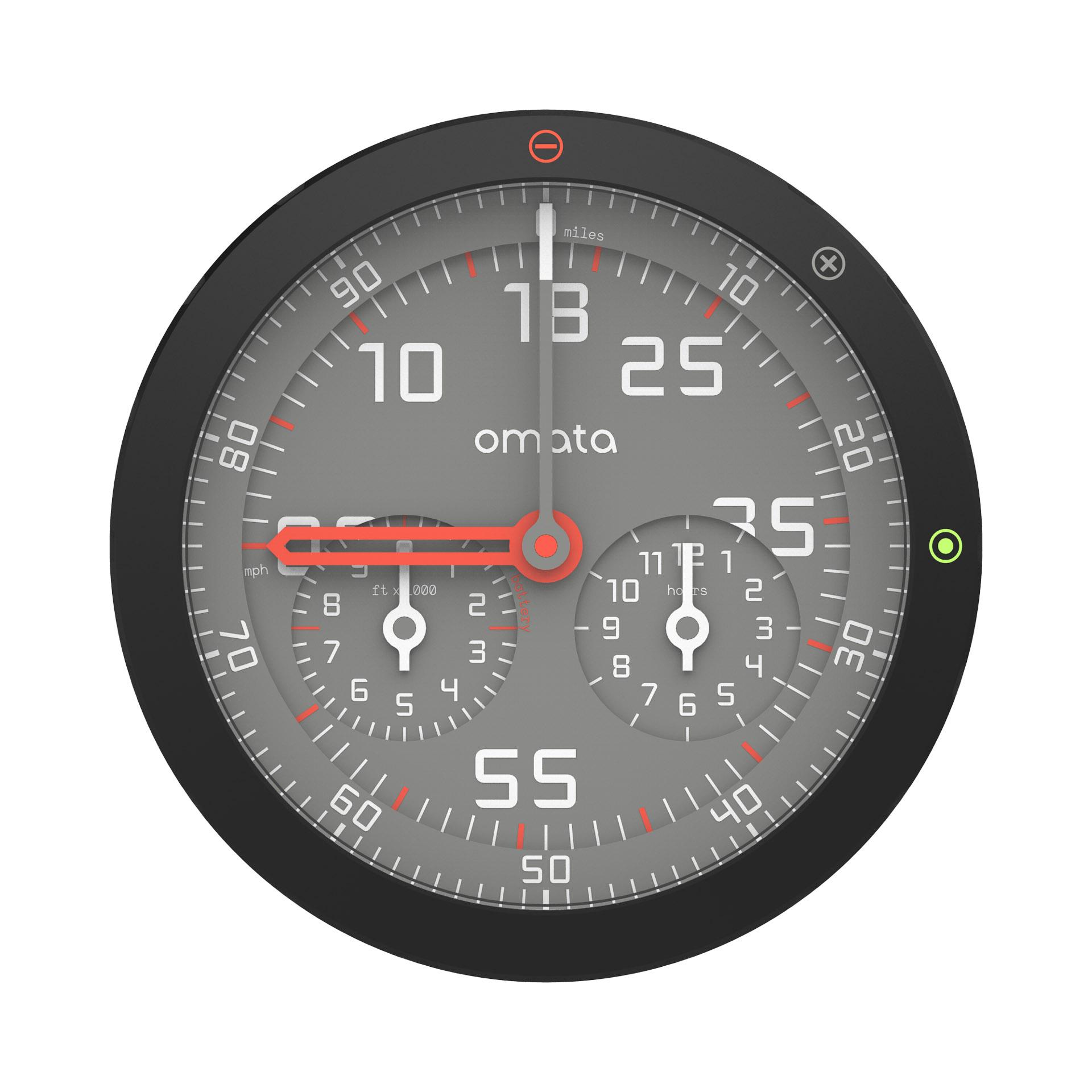 OMATA One Analog GPS Speedometer