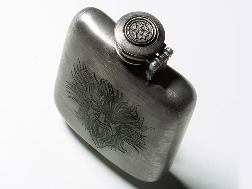 Vansh Poseidon Pewter Flask