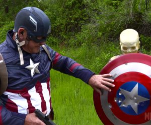 Shooting at Capt. America's Shield