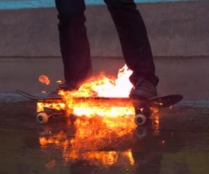 Skateboarding on Fire