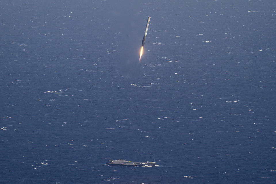 SpaceX Falcon 9 Ocean Landing