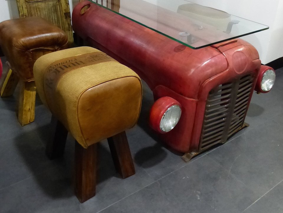 Tractor Coffee Table The Awesomer