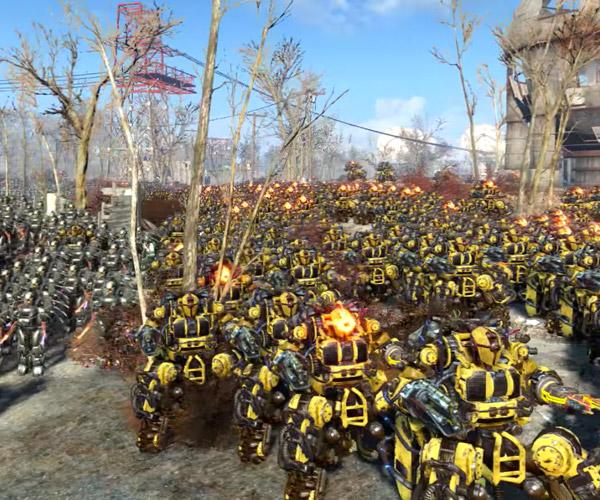 30,000 Robot Fallout 4 Battle
