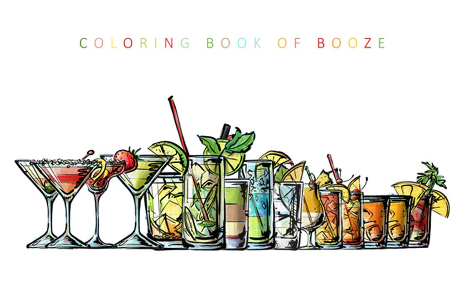 Coloring Book of Booze