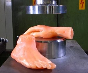 Hydraulic Press vs. Fake Limbs