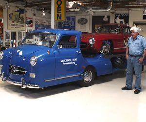 Jay Leno's Retro Race Car Transporter