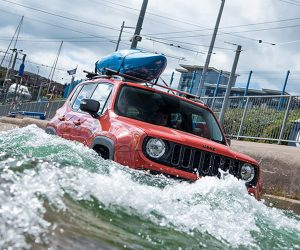 Jeep Goes White Water Rafting