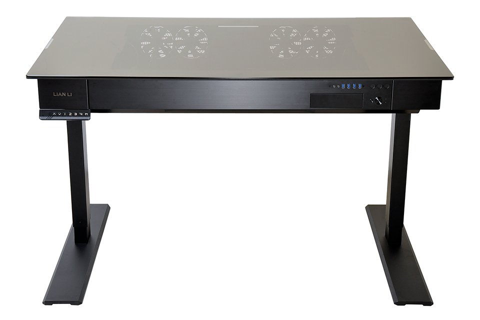 Lian Li DK-04 Standing Desk PC Case - The Awesomer