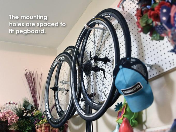 Offset Bike Wheel Storage