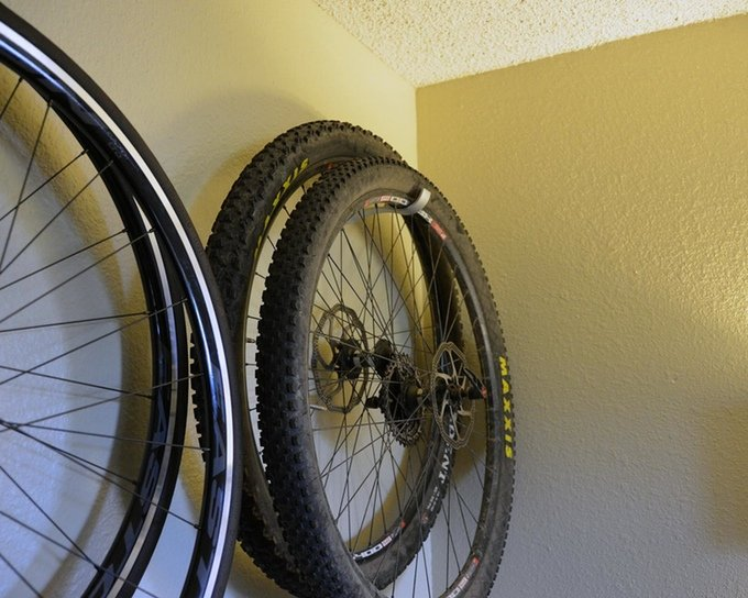 Offset Bike Wheel Storage