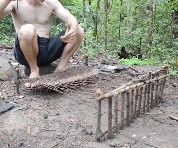 Making Woven Bark Fiber