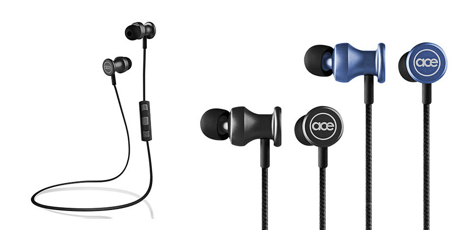 deal bluetooth aluminum earbuds the awesomer. Black Bedroom Furniture Sets. Home Design Ideas