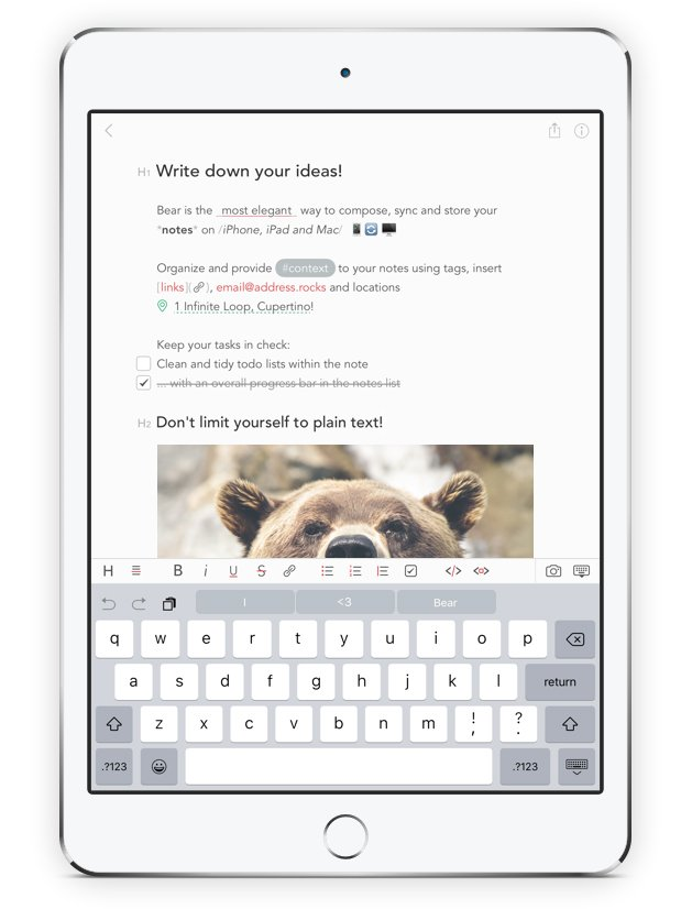 Bear for iOS & OS X