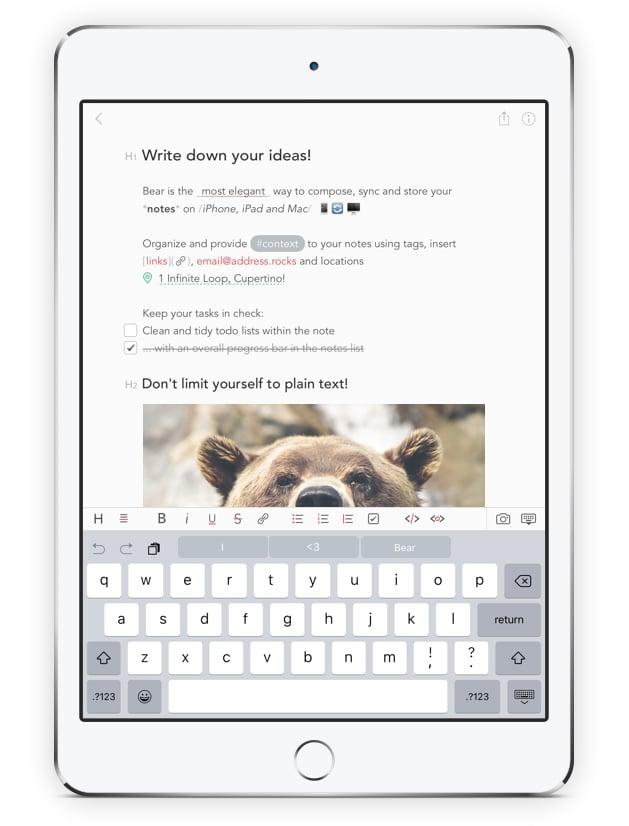 Bear for iOS & OS X