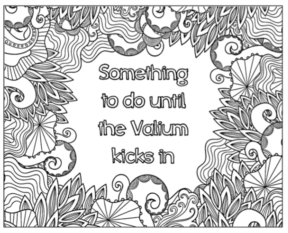 Calm the F* Down Coloring Book