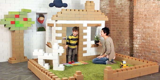 Edo Cardboard Building Blocks