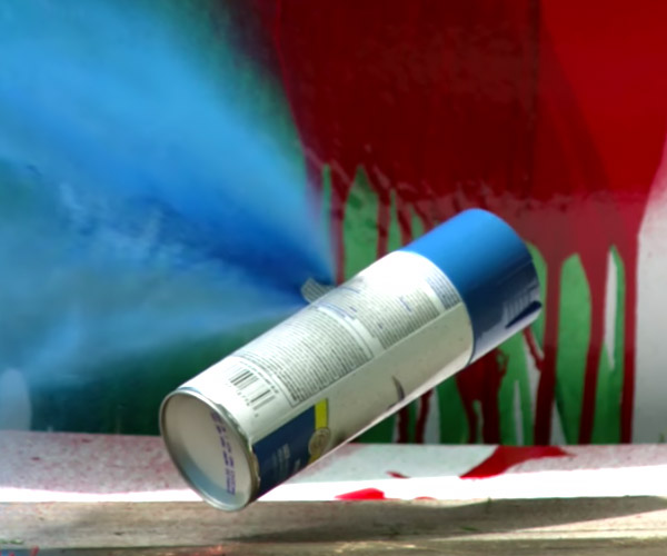 Exploding Spray Paint in Slow-Mo