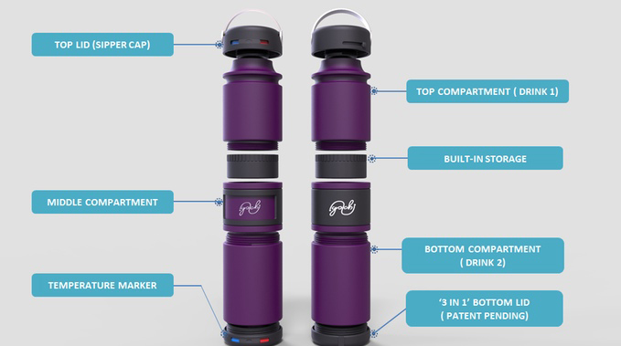 Golchi Modular Drink Bottle