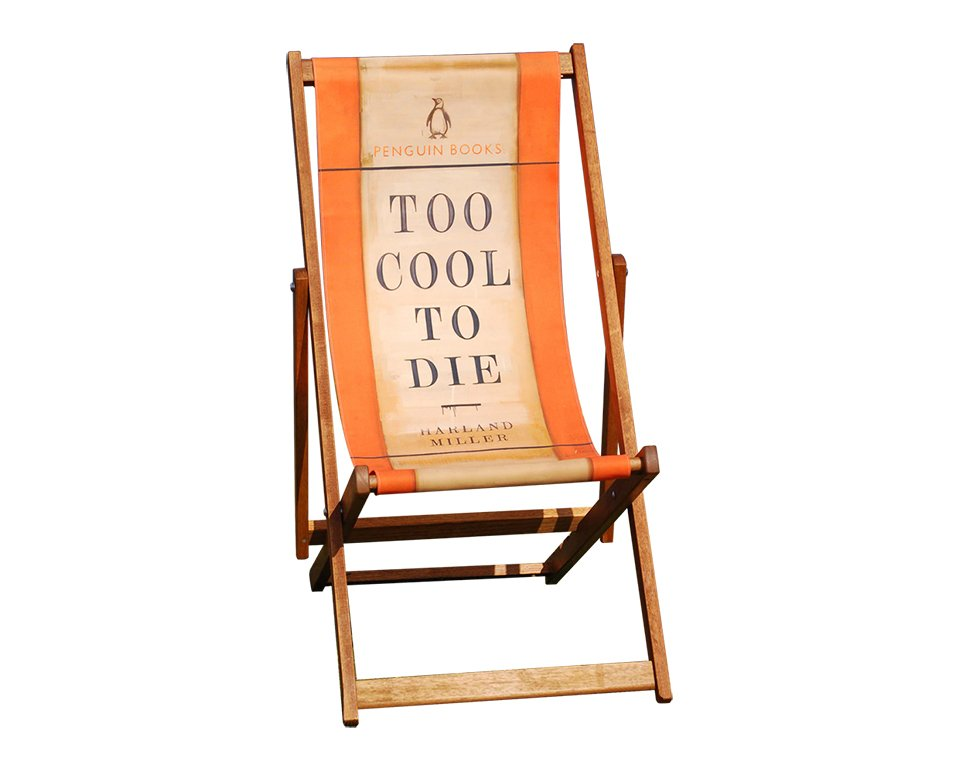 Penguin Book Cover Deck Chairs : Harland miller deckchairs the awesomer