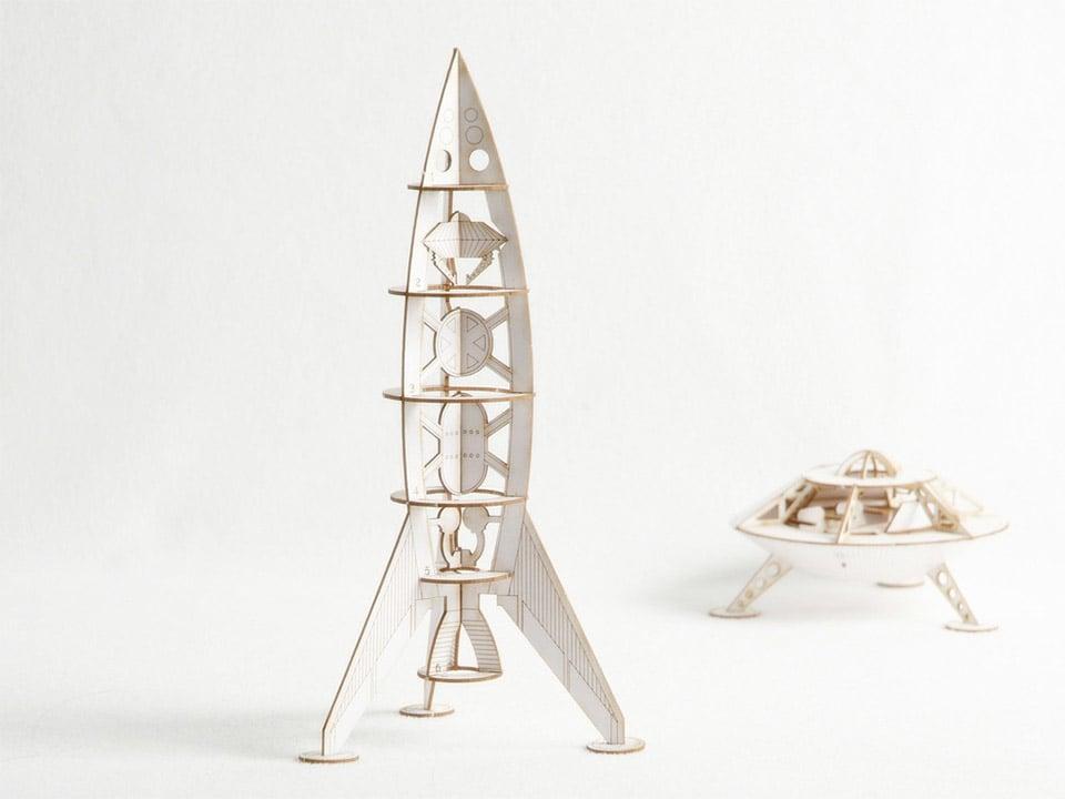 Mars Rocket & Lander Models