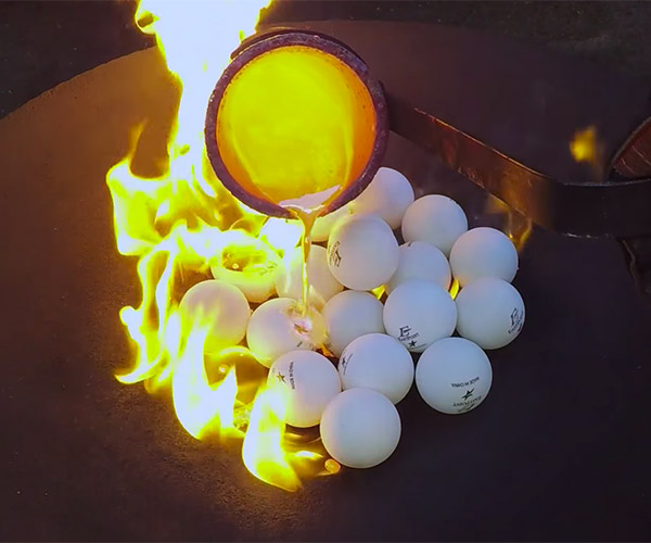 Molten Copper vs Ping Pong Balls
