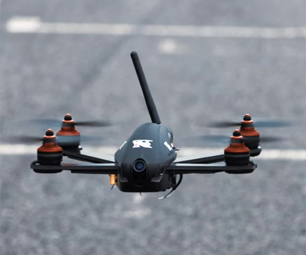 Drone vs. Nissan GT-R