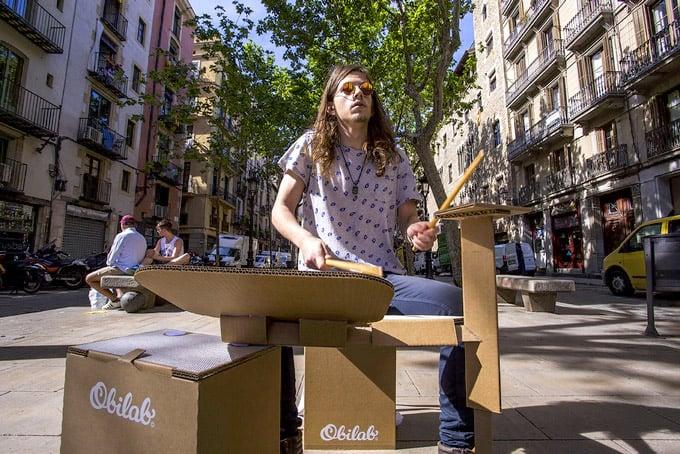 Obilab Cardboard Drum Kit