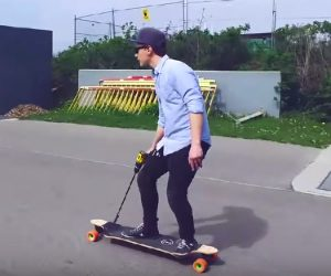 Drill-powered Skateboard