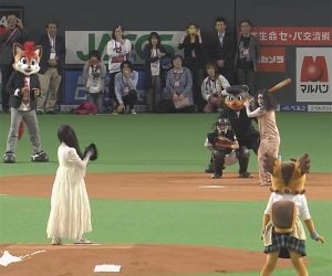 Sadako vs. Kayako… in Baseball