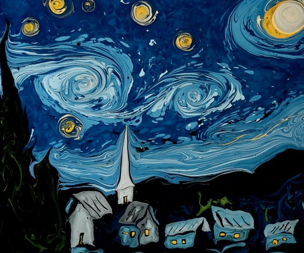 The Starry Night in Water