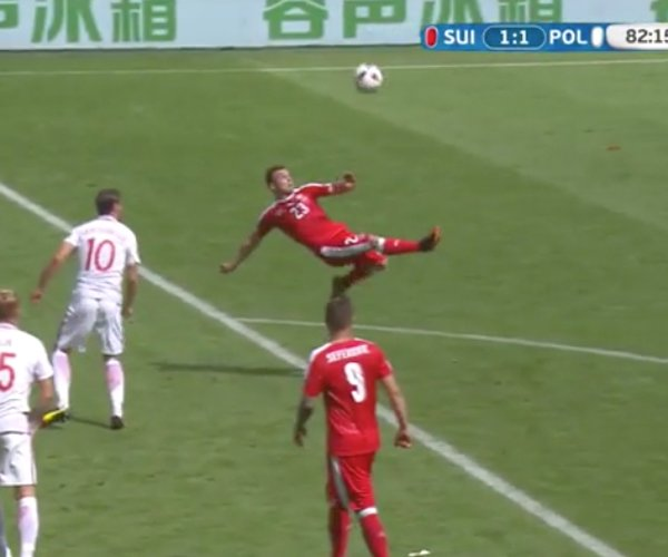 Shaqiri Euro 2016 Bicycle Kick Goal