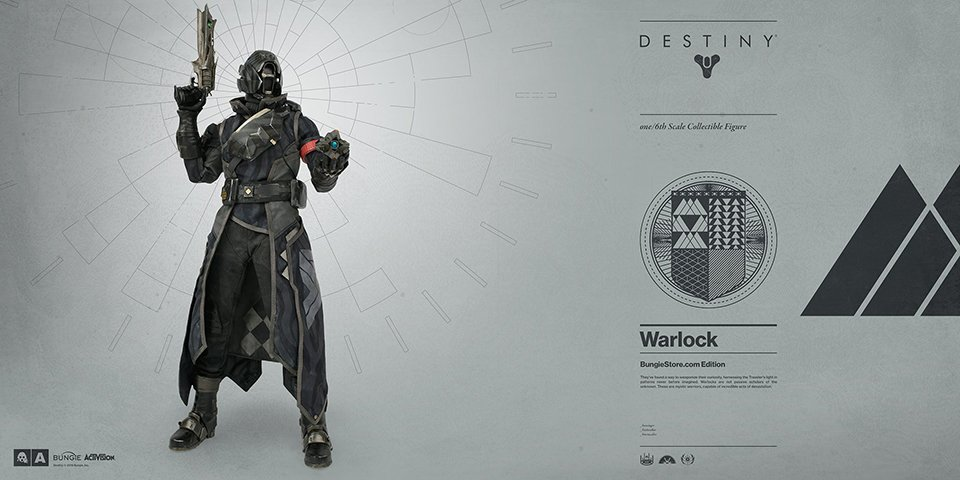 3A Destiny Warlock & Hunter Figures