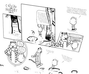 Calvin & Hobbes 3D Comic Strip