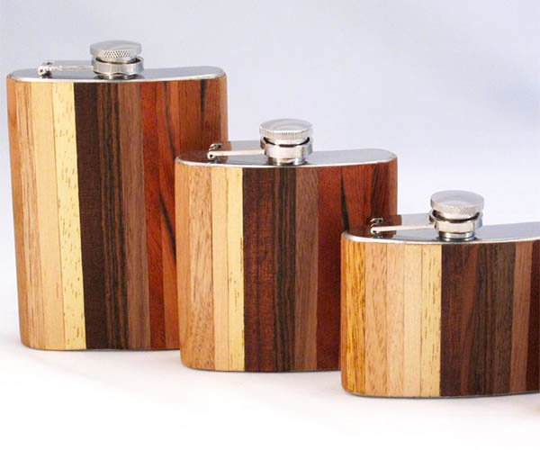 Exotic Wood Flasks
