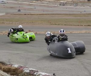 Jay Leno Tries Sidecar Racing