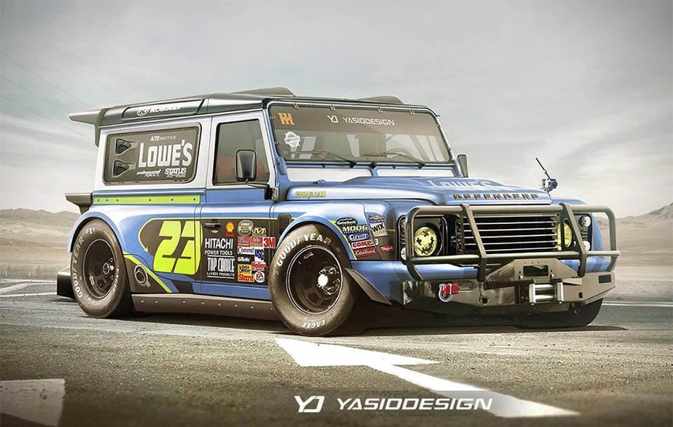 Land Rover x NASCAR Concept