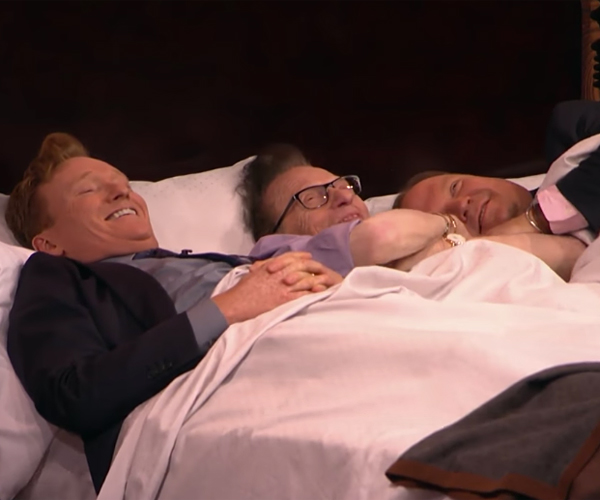 Larry, Conan & Andy Share a Bed